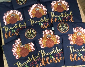 Thankful & Blessed Thanksgiving shirt