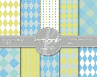 80% OFF SALE Breeze Argyle digital paper, commercial use, scrapbook papers, background - PS513