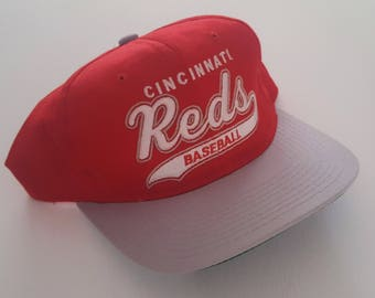 Vintage Cincinnati Reds Starter Script Snapback Hat MLB VTG