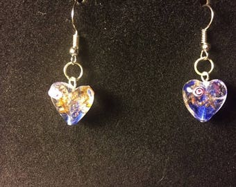 Merano Glass Earrings Colbalt Blue
