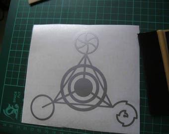 crop circle geometry vinyl decal