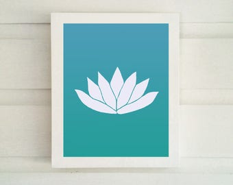 Lotus Flower Art - Various Colors and Sizes - Lotus Art Print - - Lotus Wall Art - Lotus Symbol -  Lotus Art