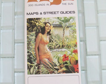1970s Fiji Map Fold Out - Bikini Godess