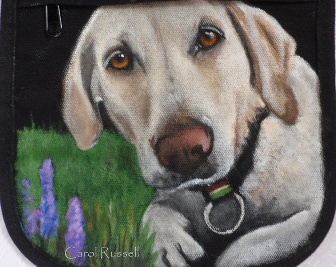 Featured listing image: Custom Kicker Crossbody Bag - Hand painted portrait of your pet on this purse