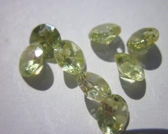 10 Crystal beads 4mm transparent yellow (HP 4 Z1) zirconium