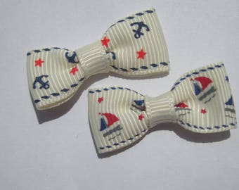 2 mixed colors 30mm approx - fabric bows (A41
