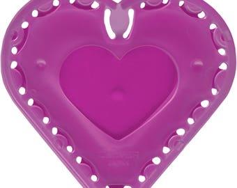 Quick Yo Yo Maker Small Heart by Clover (8704) Plastic Template