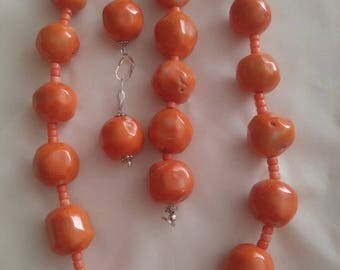 Large coral beads set - zestaw z korala