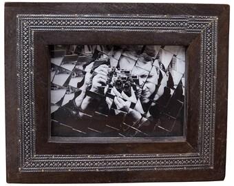 Wood Picture Frame, 5x7 Frame, 4x6 Frame, Handmade Frame, Rustic Home, Wedding Frame, Reclaimed Wood Frame, Metal Frame, Easter Frame