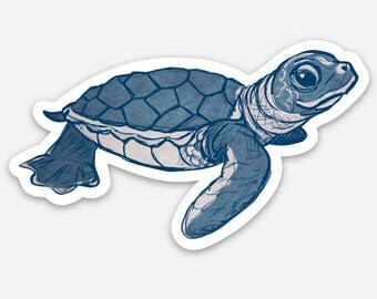 Baby Sea Turtle Vinyl Sticker