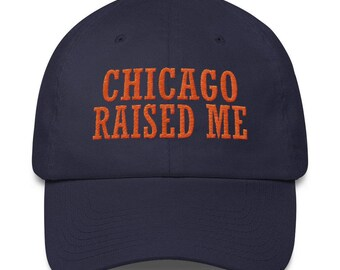 Chicago Raised Me Navy blue hat