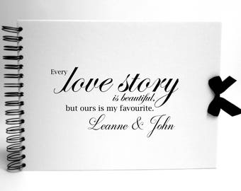 Personalised White Scrapbook A5 A4 Love Story, Photo Album, Keepsake