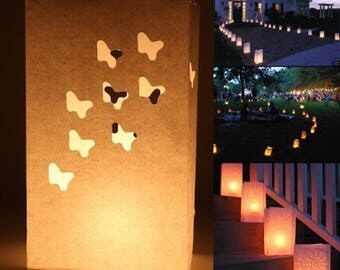 Set of 10 tea light candle bags for table centrepiece garden decoration wedding party Christmas engagement baby shower baptism