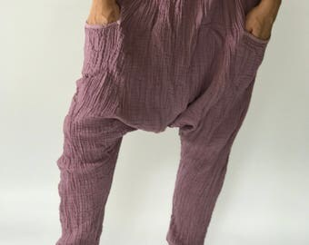 "HL0122  Harem Pants super soft rayon baggy unisex harem pants have the ""flow"", perfect of yoga"