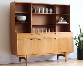 Mid Century Modern Teak Shelving Unit by S-Form