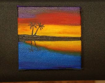 Acrylic painting magnet