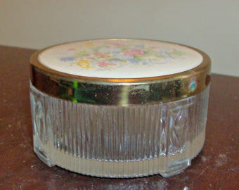 Vintage Powder Vanity Jar