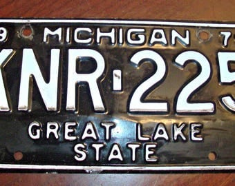 Vintage 1979 MICHIGAN License Plate