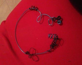 Practical blue black light necklace