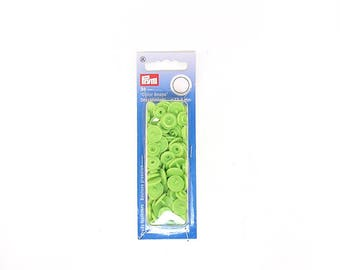 """1 box of buttons pressure """"Color Snaps"""" round green Apple"""