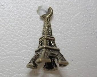 1 Mini Eiffel Tower Silver Charm