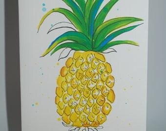 Pineaple  Handmade Greeting Card