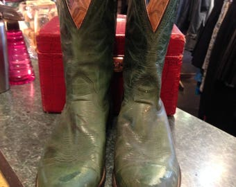 Green Cow-Boy Boots Men Size 12
