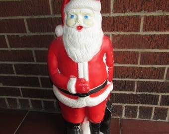 "Lighted Blowmold Santa Claus 22"" VTG . Union Products Inc.. VINTAGE Blow Mold. New Light Cord Included"