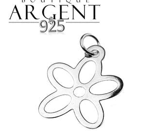 Flower shaped Sterling Silver 925 16 X 11 mm