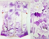 Flower garden purple whit...