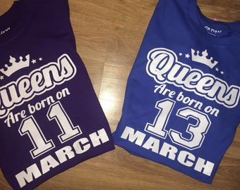 Queens Are born birthday shirt