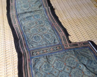 Handmade Ethnic Hmong Vintage Fabric batik textile Hilltribe craft supplies