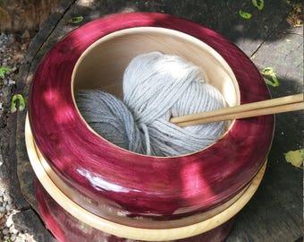 Purple yarn bowl
