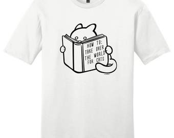How to Take Over the World For Cats Young Men's T-Shirt DT6000 - RR-386