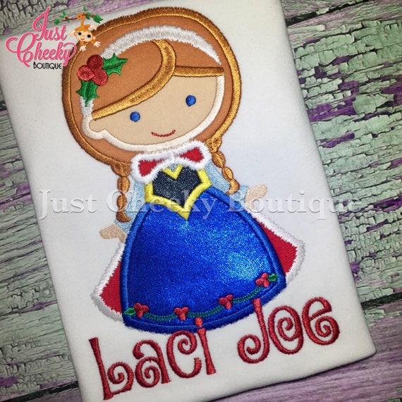 Princess Anna Christmas Cutie Embroidered Shirt - Frozen Anna - Queen Elsa - Disney Princess - Disney Christmas Vacation -