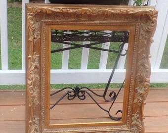 Large Ornate Picture Frame- Real Wood- Thick and Chunky! Vintage