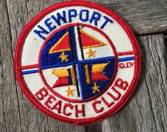 Newport Beach Club Vintage Souvenir Travel Patch