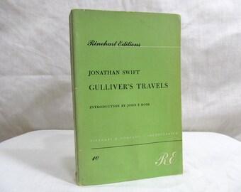 Gulliver's Travels  Jonathan Swift  Published by Rinehart (1959) Fantasy Fiction Paperback Vintage Novel