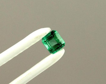 4mm Square Cut Natural Colombian Emerald Loose Gemstone