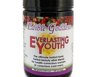 300g Everlasting Youth: The Ultimate Instant Tonic Herbal Beauty & Vitality Elixir Blend for Health Conscious Women (and Conscious Cool Men)