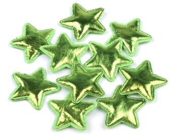 20 stars, green, 3 cm