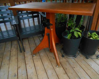 Vintage Upcycled Drafting/Dining  Table or Desk - NO SHIPPING AVAILABLE