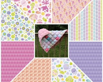 Twin Size Rag Puff Biscuit Quilt Custom Order Many