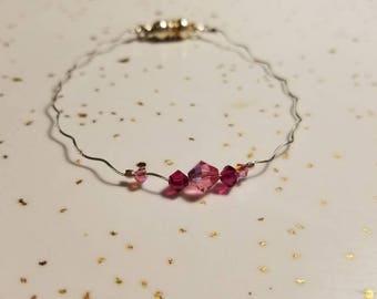 Wiggle Wire with Swarovski Crystal Bracelet