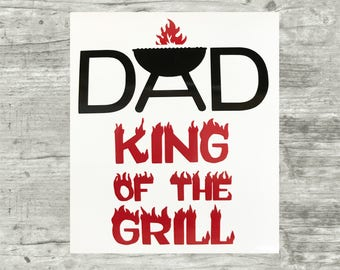 Dad's Birthday, Grandpa, Papa's Birthday, Gifts for him, Grill Master Vinyl Decal for Beer, Glass, Mug