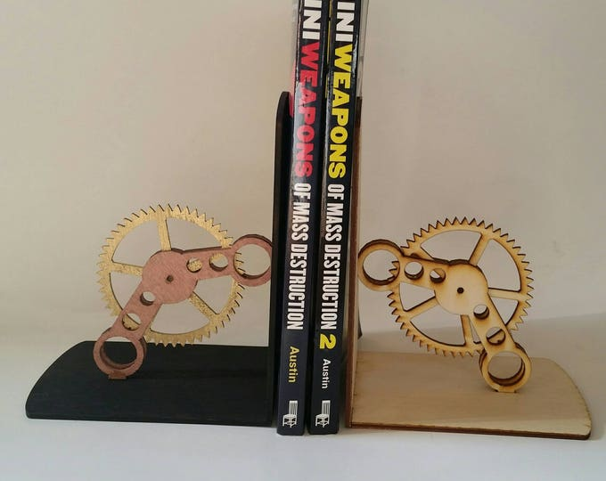 Steampunk Kinetic Moving Gear Bookends
