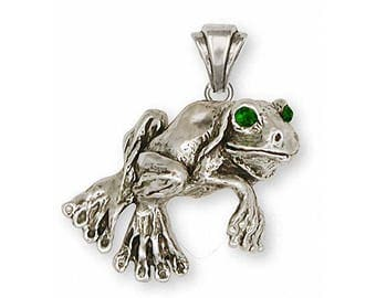 Frog Pendant Jewelry Sterling Silver Handmade Frog Pendant FG3-P