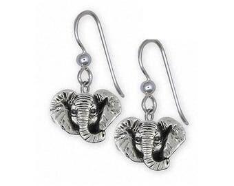 Elephant Jewelry Sterling Silver Elephant Earrings Handmade Wildlife Jewelry EL6H-E