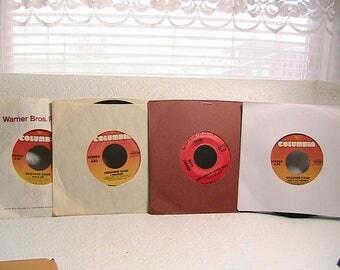 Record, 45 RPM Records, Johnny Cash. Rosanne Cash, Dottie West, Lot of 5 Records