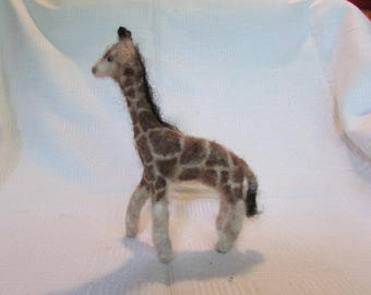 Giraffe Needle Felted